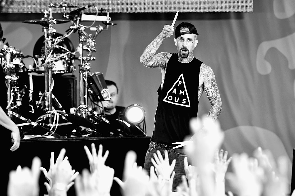 Drummer Travis Barker of the band Blink 182