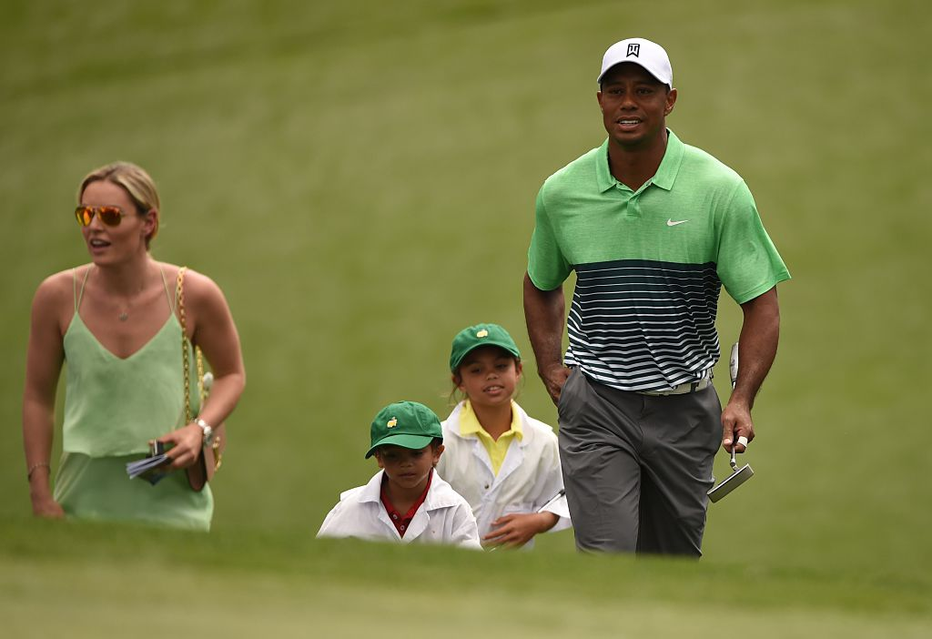 Tiger Woods, Lindsey Vonn and Woods' Children