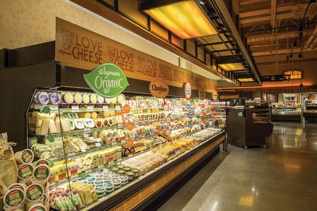 cheese bar at Wegmans