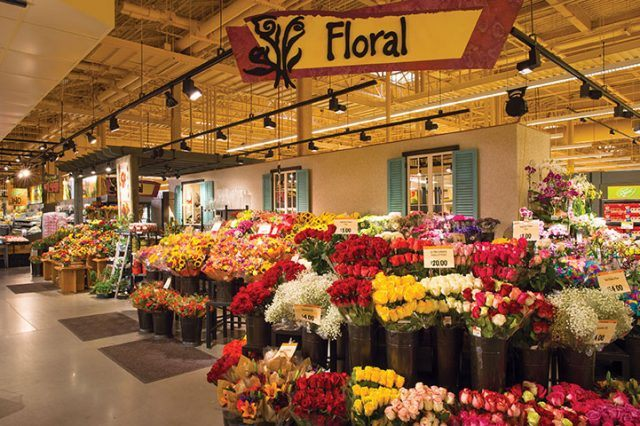 Wegmans' floral department