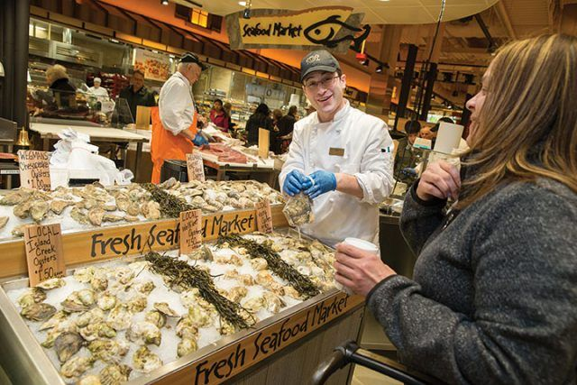 Seafood department at Wegmans