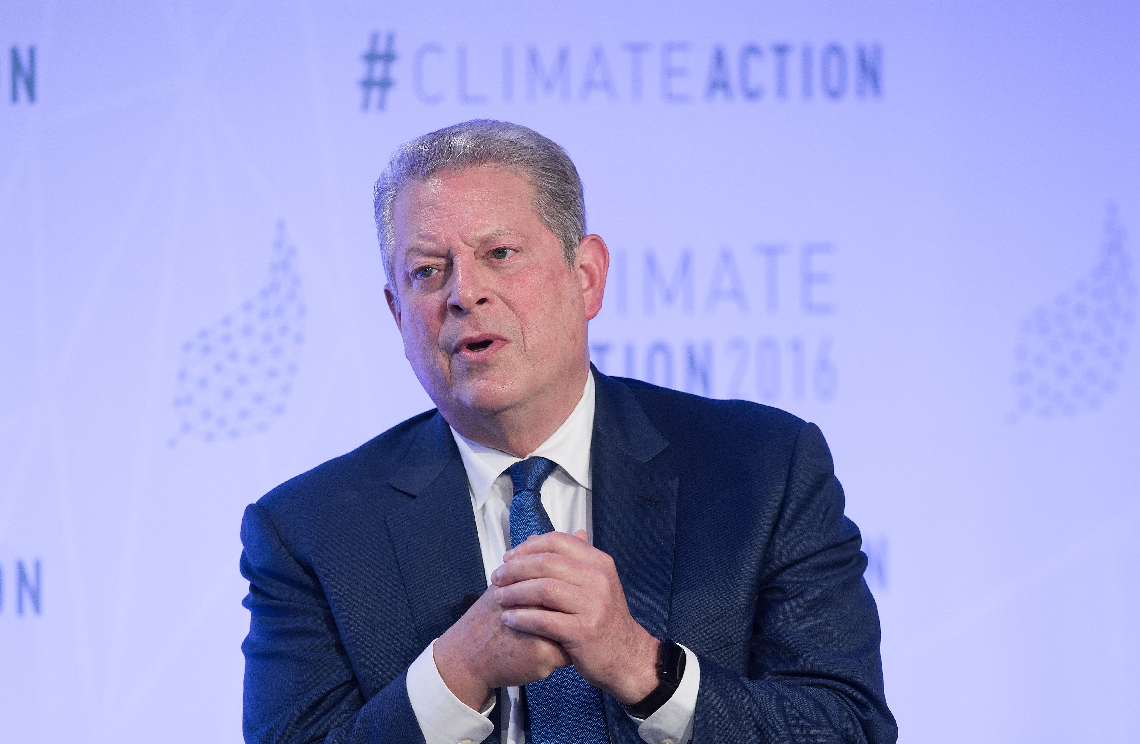Al Gore speaking at environmental protection conference