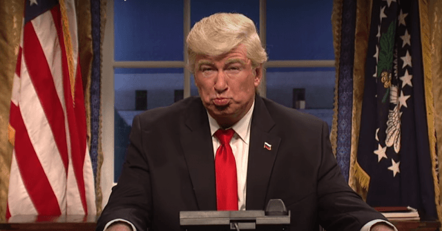 Alec Baldwin imitating Donald Trump.