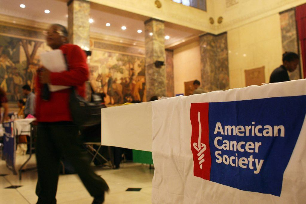 American Cancer Society booth