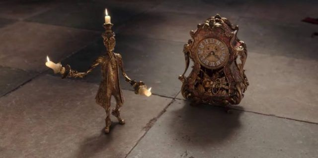 Lumiere and Cogsworth in 'Beauty and the Beast'.