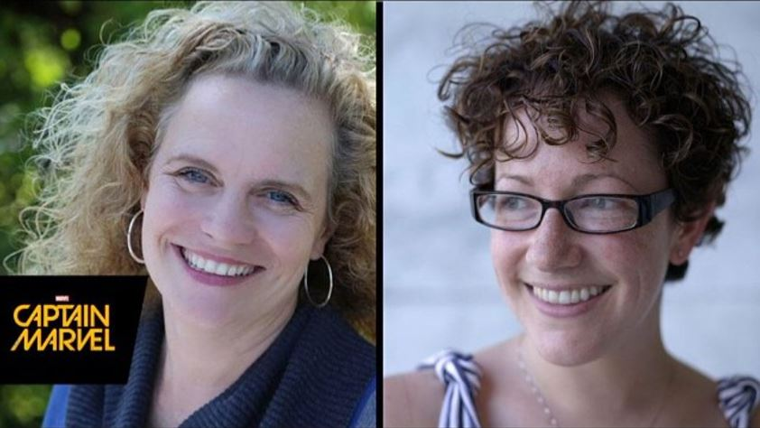 A side-by-side photo of Meg LeFauve and Nicole Perlman