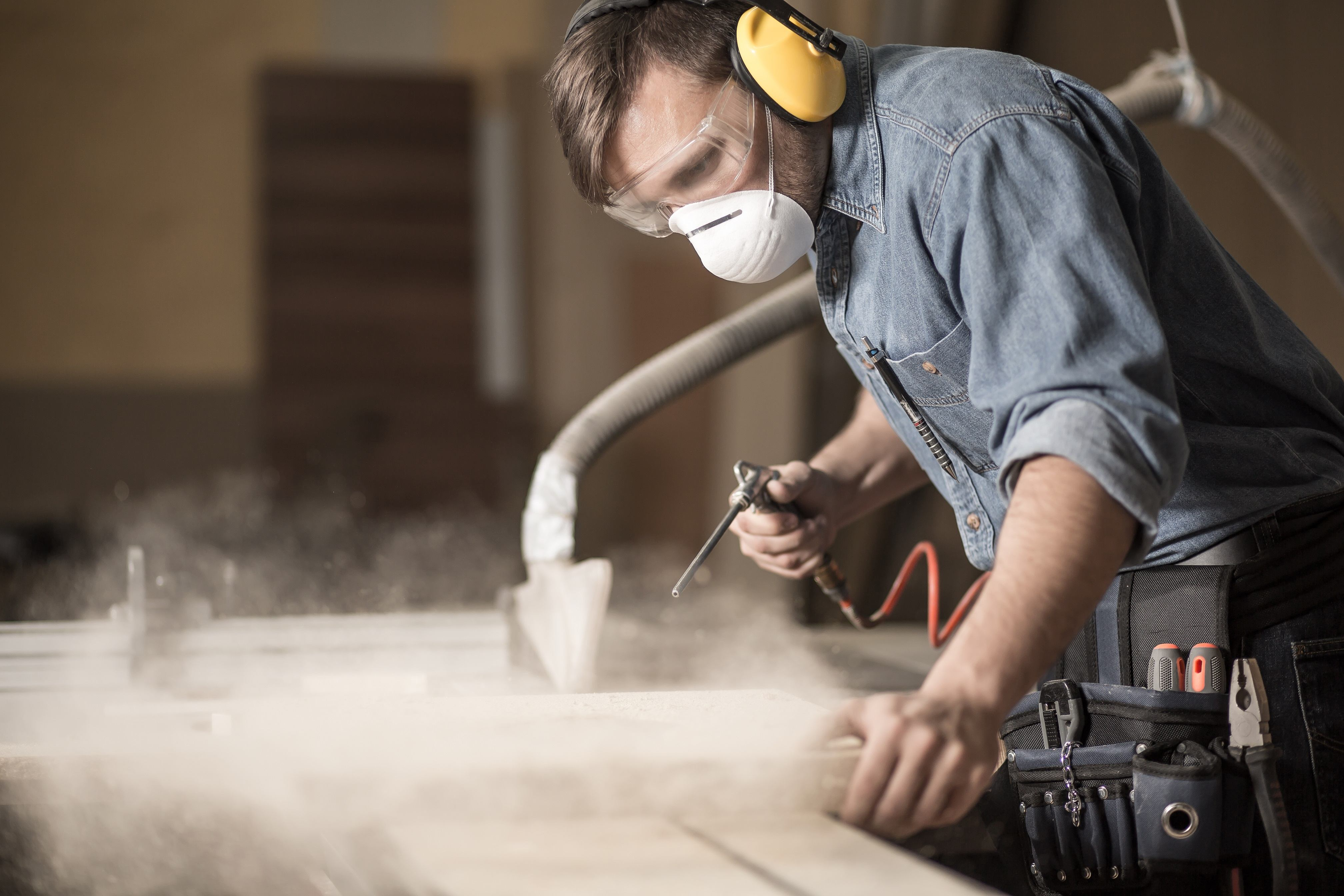 Carpenter woodworking