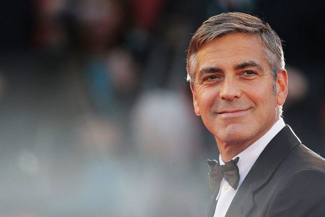 George Clooney at the Men Who Stare At Goats premiere