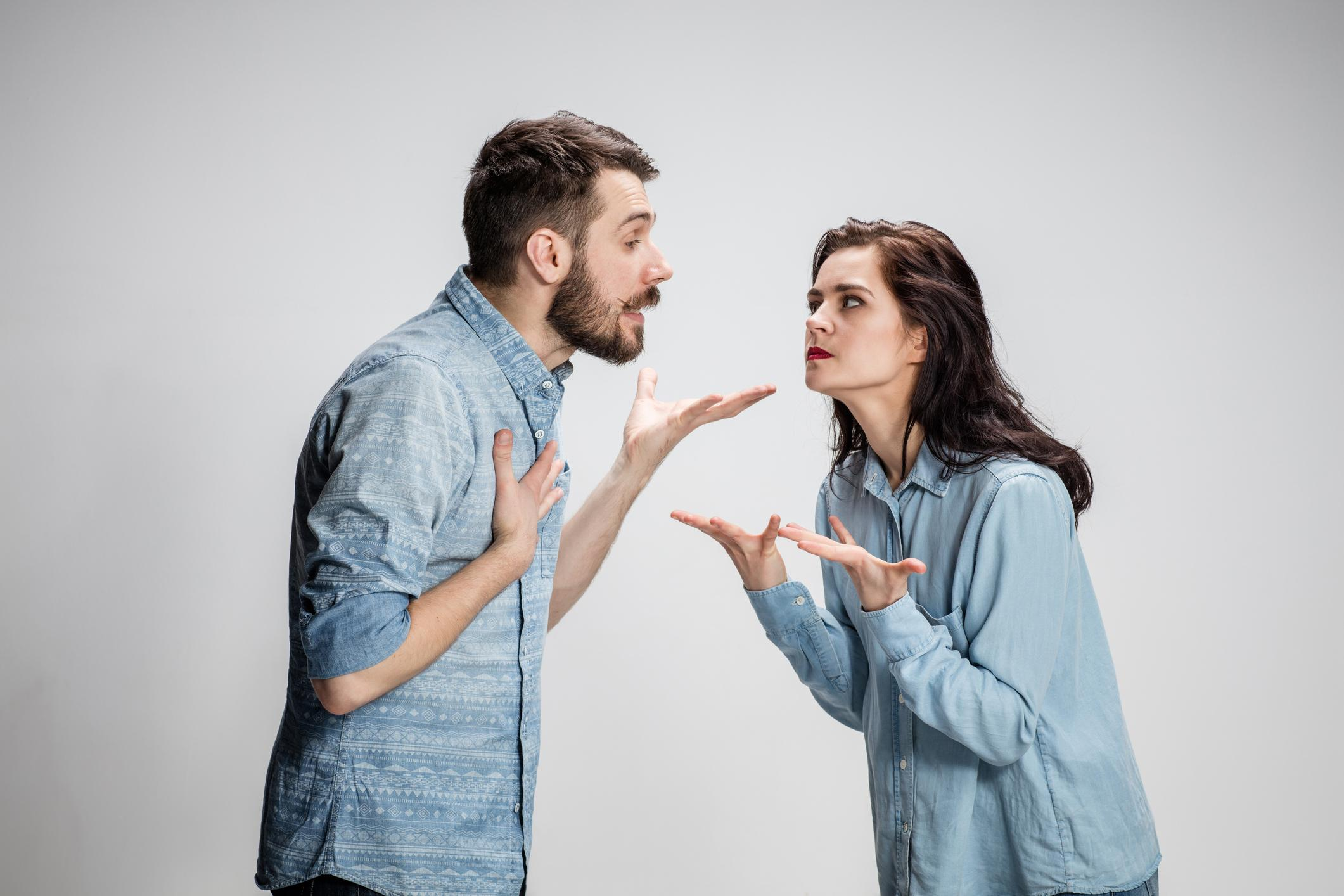 Couple arguing