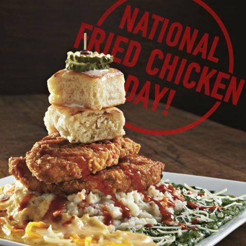 dave & buster's dish for National Fried Chicken Day