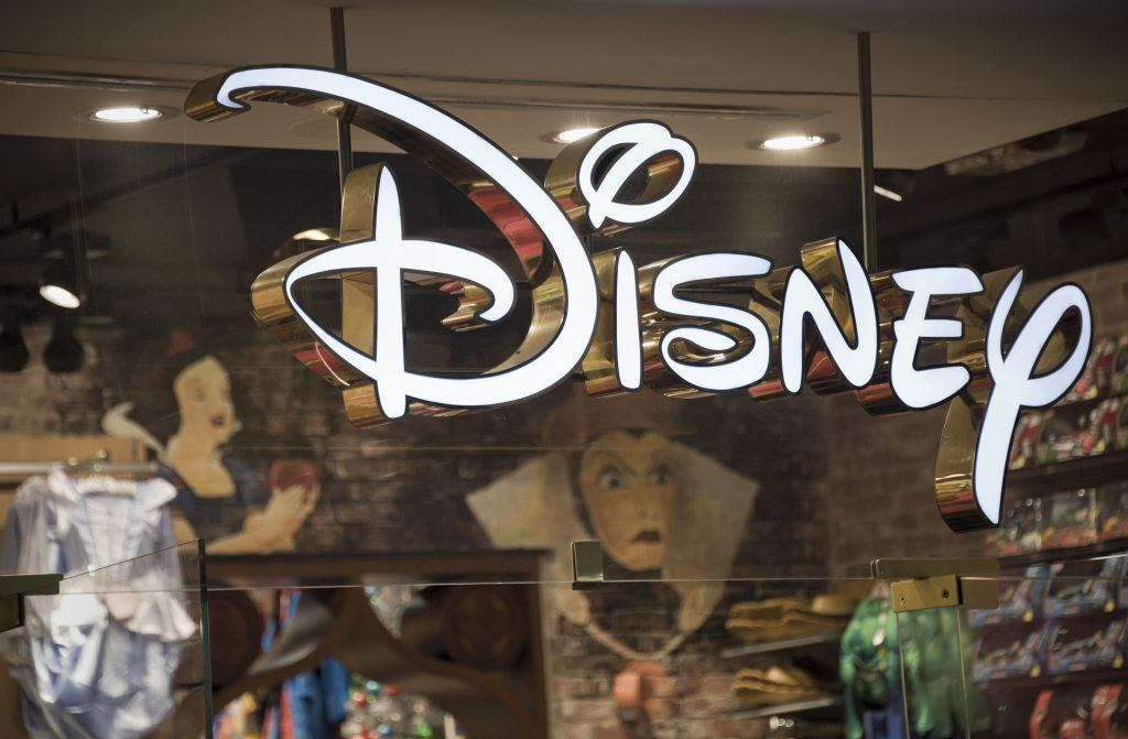 Disney store front window