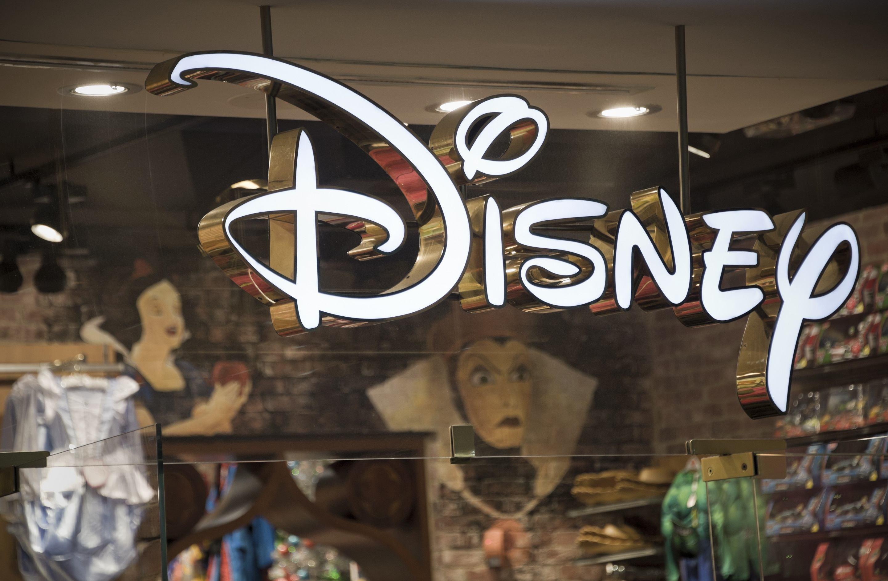 Disney store front window