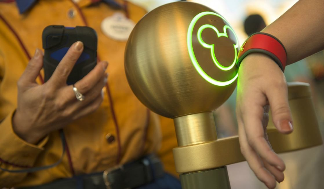 Swiping Disney magic band