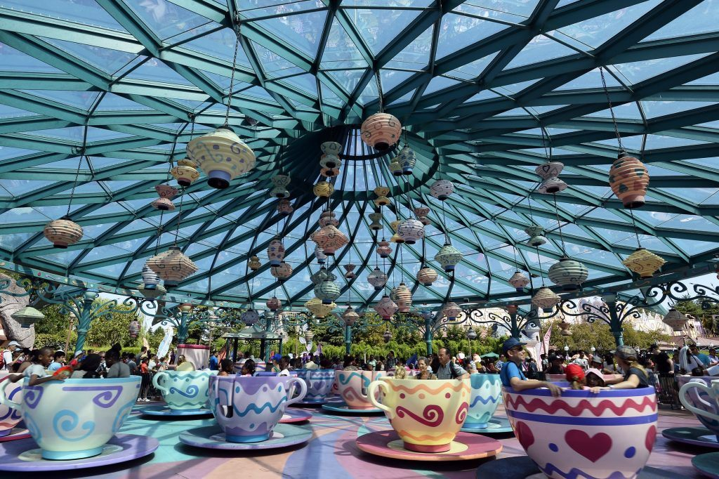 Spinning Teacups at Disney Paris