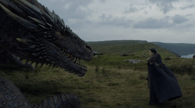 In the 'Game of Thrones' episode 'Eastwatch,' Drogon and Jon Snow face off.