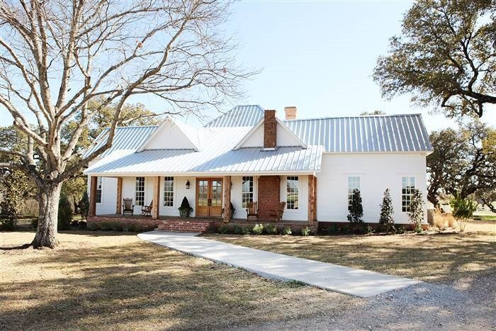 White farmhouse from Fixer Upper
