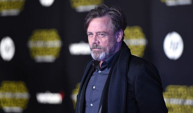 Mark Hamill at the premiere of Star Wars: The Force Awakens.