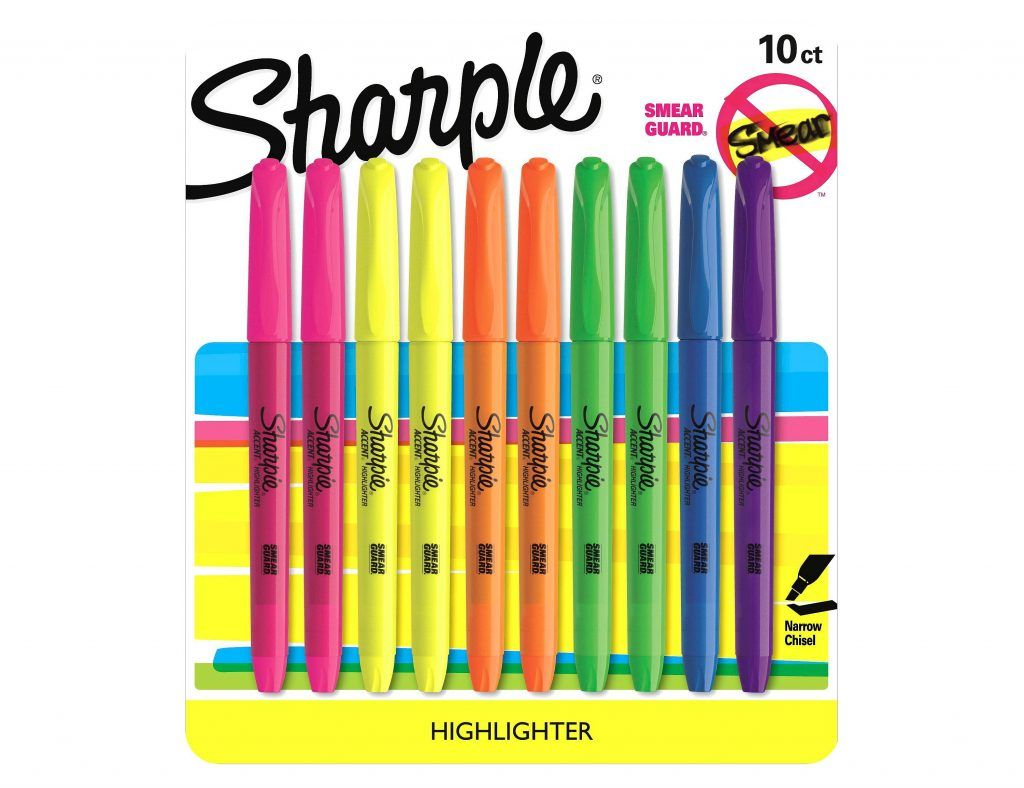 pack of multi-color highlighters