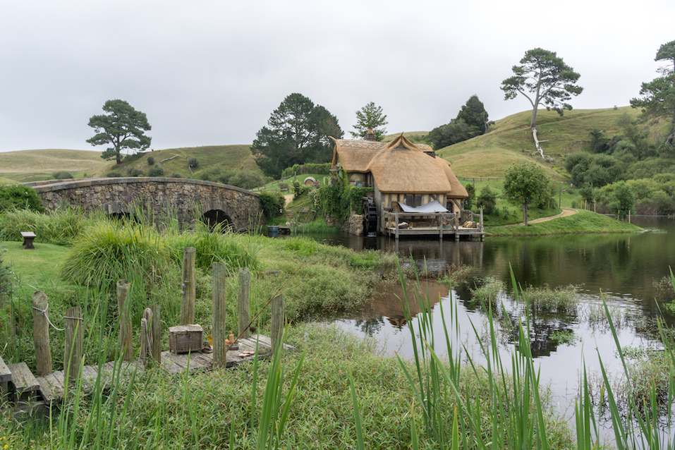 hobbiton mill and double arched bridge