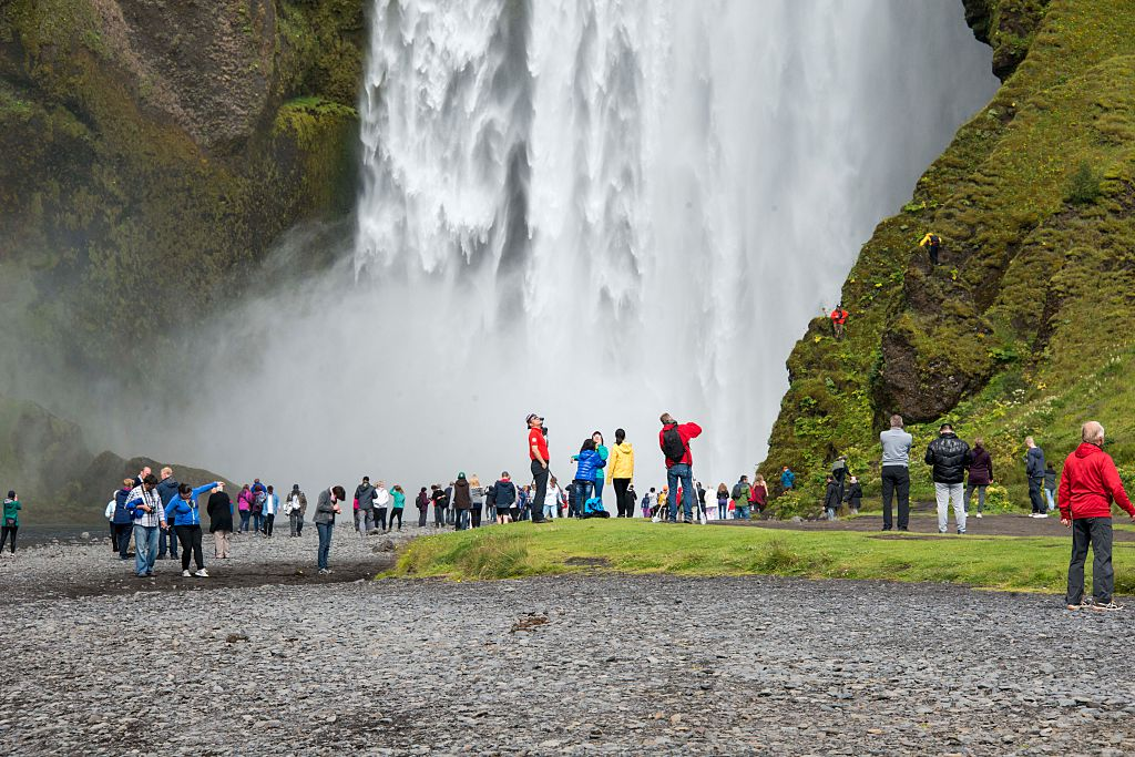 tourists in iceland