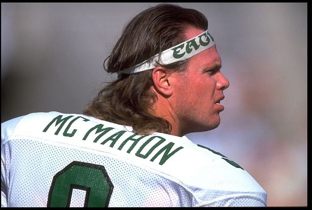 Jim Mcmahon with the Eagles