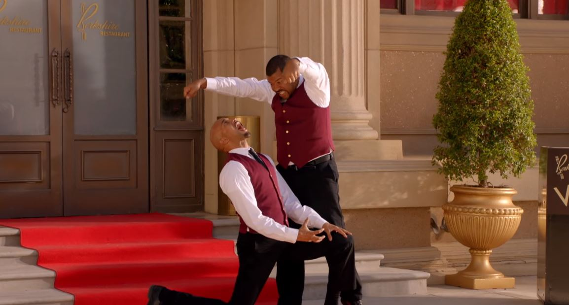 Keegan-Michael Key and Jordan Peele act out a scene from Game of Thrones