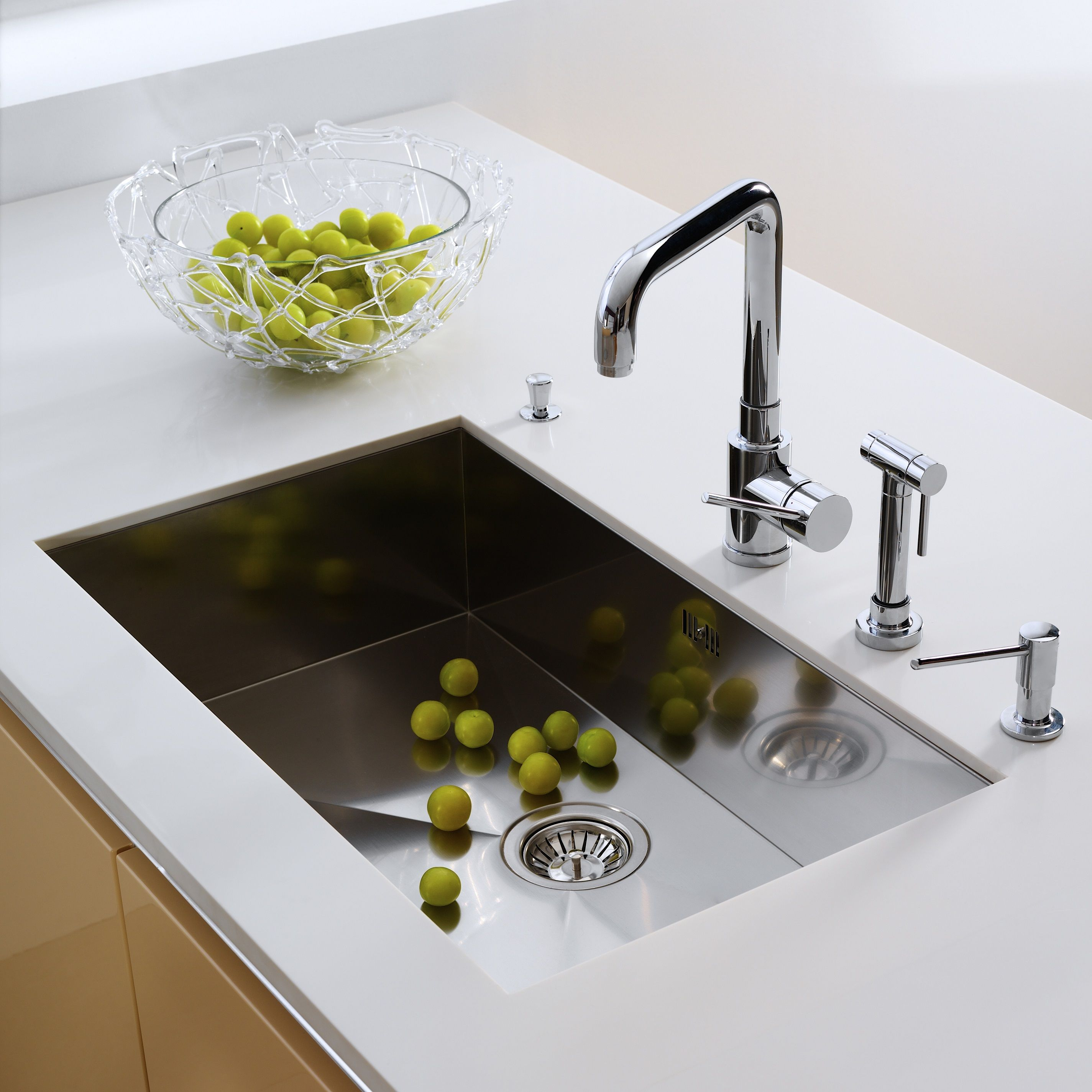 Large stainless kitchen sink