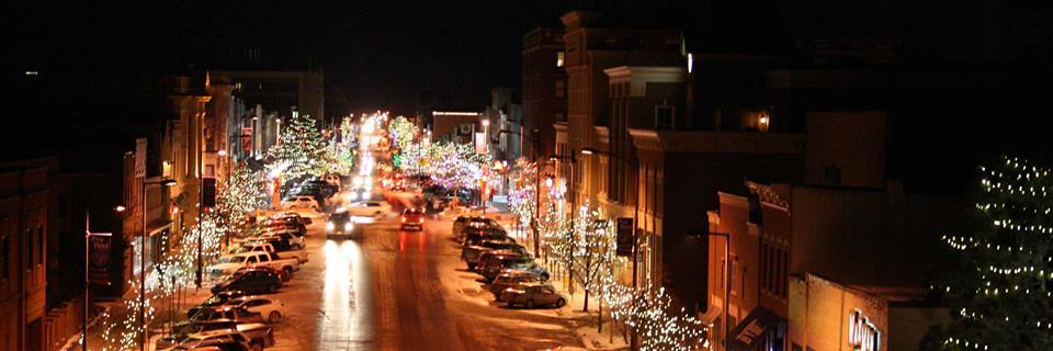A night scene in Lawrence