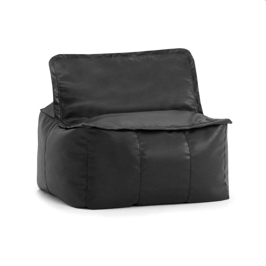 Comfort Research Big Joe Lux Zip It! Faux Leather Square Bean Bag Chair