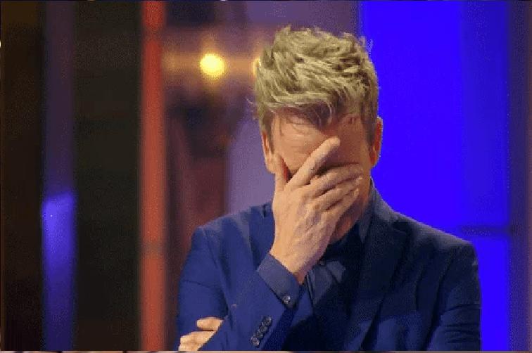 Disappointed Gordan Ramsay