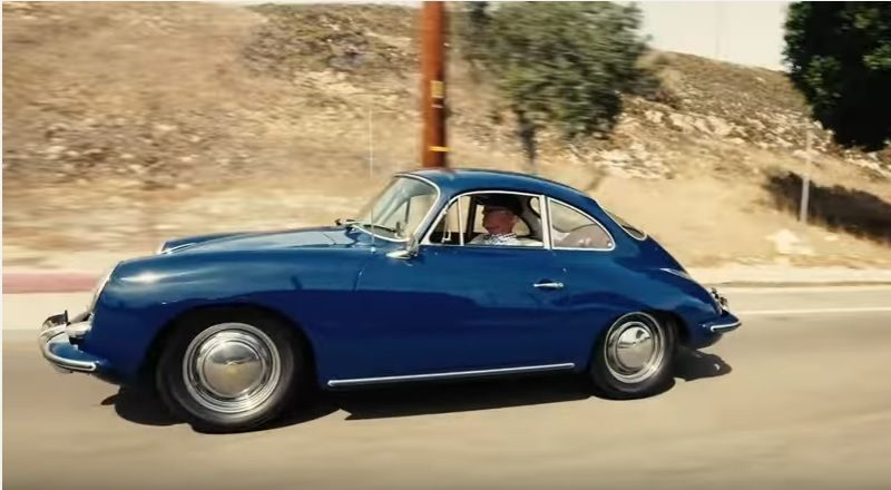 Screenshot of Porsche video of Guy Newmark reaching 1 million miles in a 356C