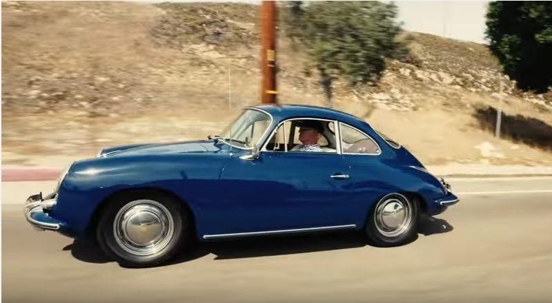 Screenshot of Porsche video of Guy Newmark reaching 1 million miles in a 356C