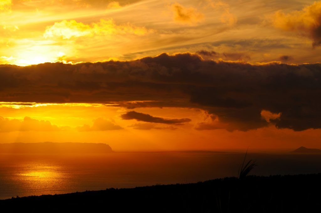Sunset over the Hawaiian island of Niihau
