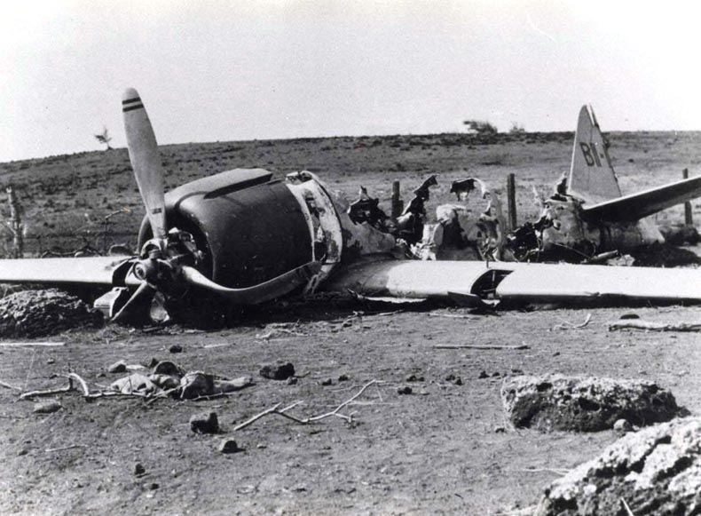 Plane crash during WWII