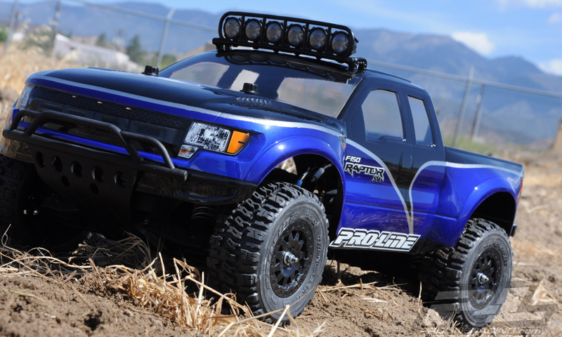 View of Ford Raptor with off-road light bar