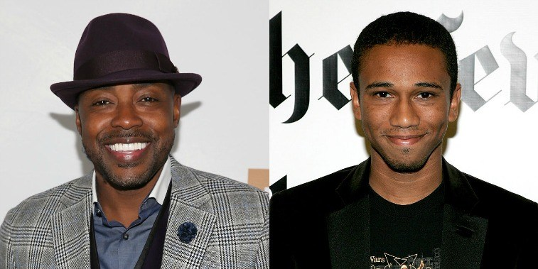 Will Packer and Aaron McGruder smile at cameras