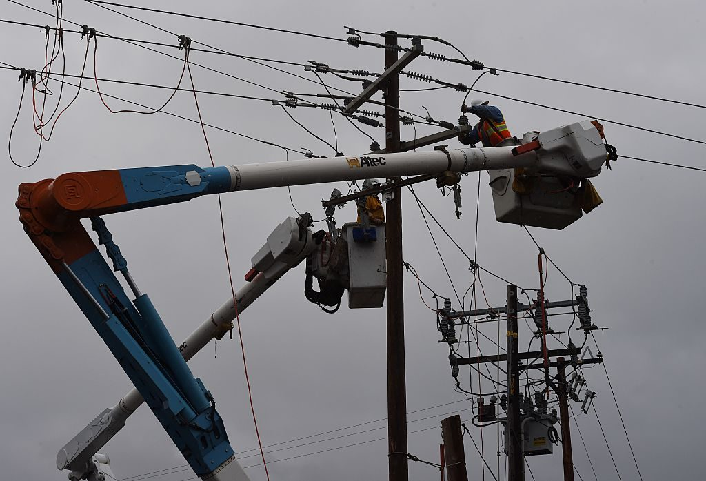 electric utility worker