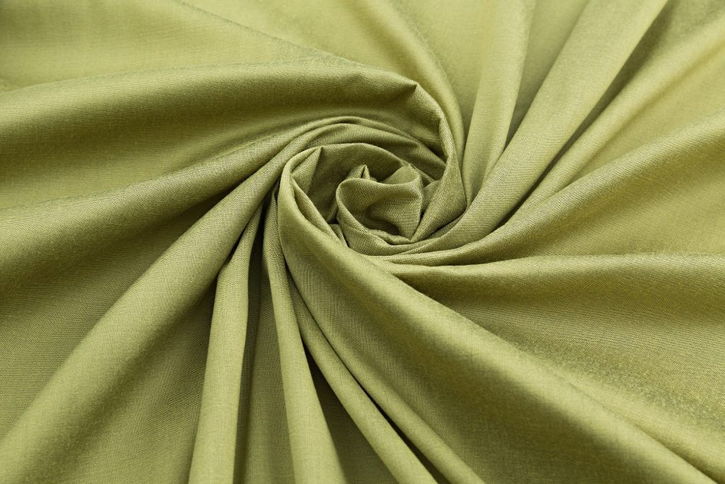 Green fabric with sheen