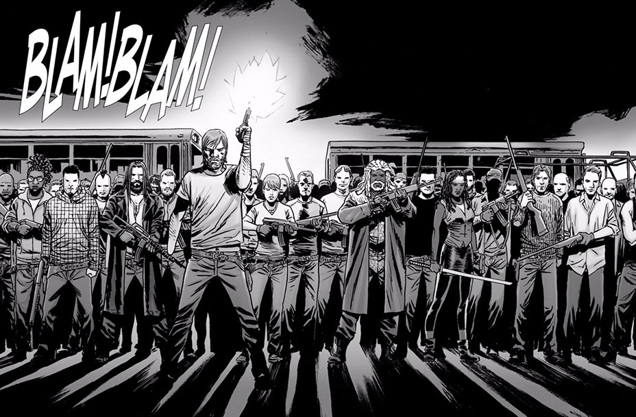 The All Out War in The Walking Dead comics