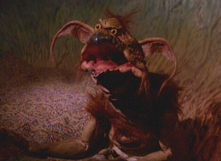 Salacious Crumb laughs in Star Wars: Return of the Jedi