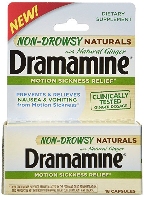 Dramamine motion sickness medicine