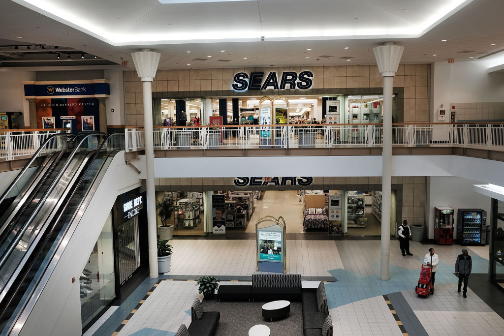 sears entrance in mall