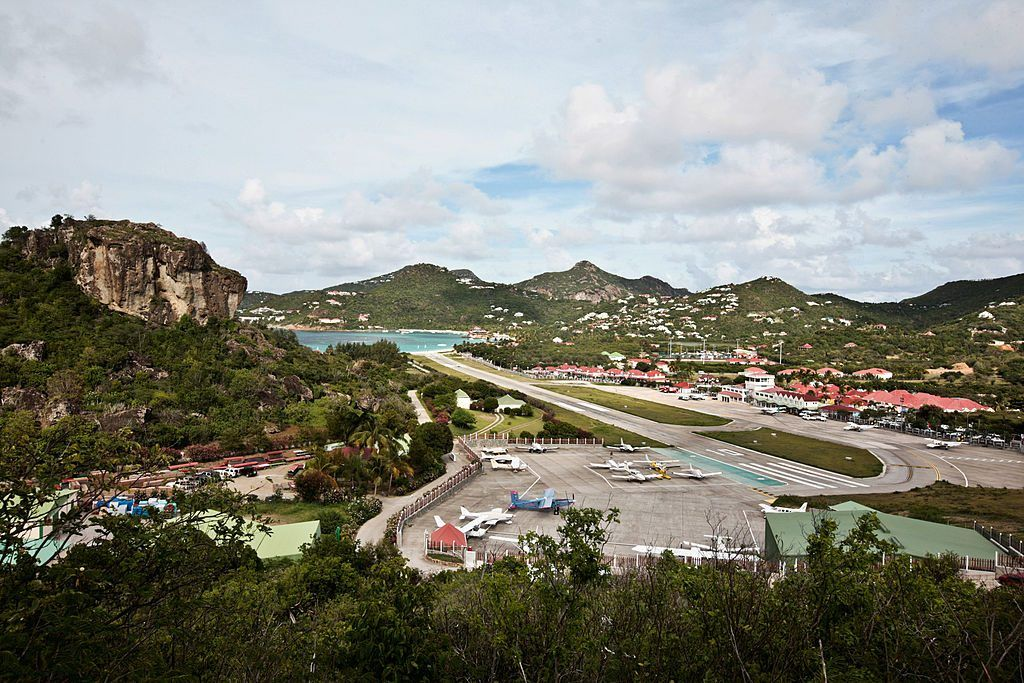 "Gustave III"" airport on Saint-Barthelemy island"