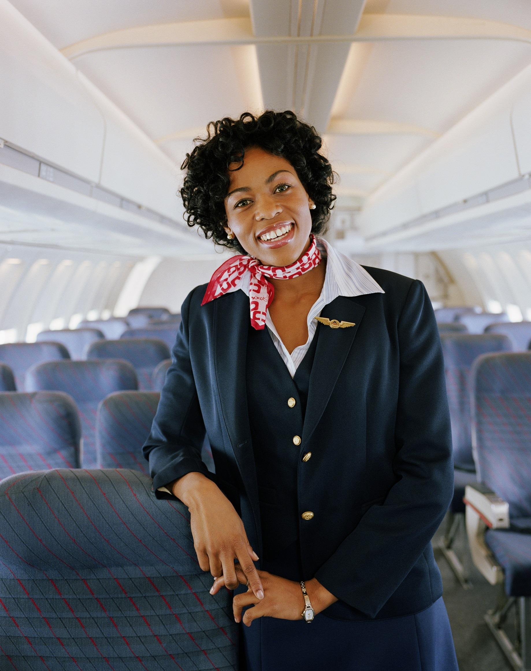 Woman flight attendant