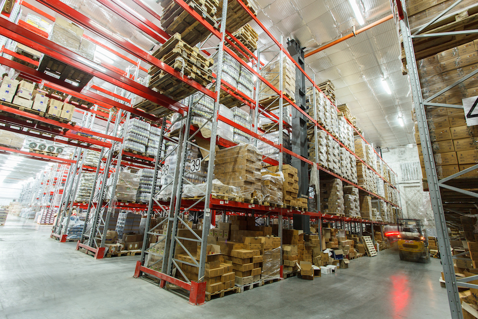 The warehouse complex for the storage of consumer goods
