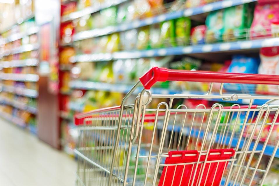 Supermarket interior,