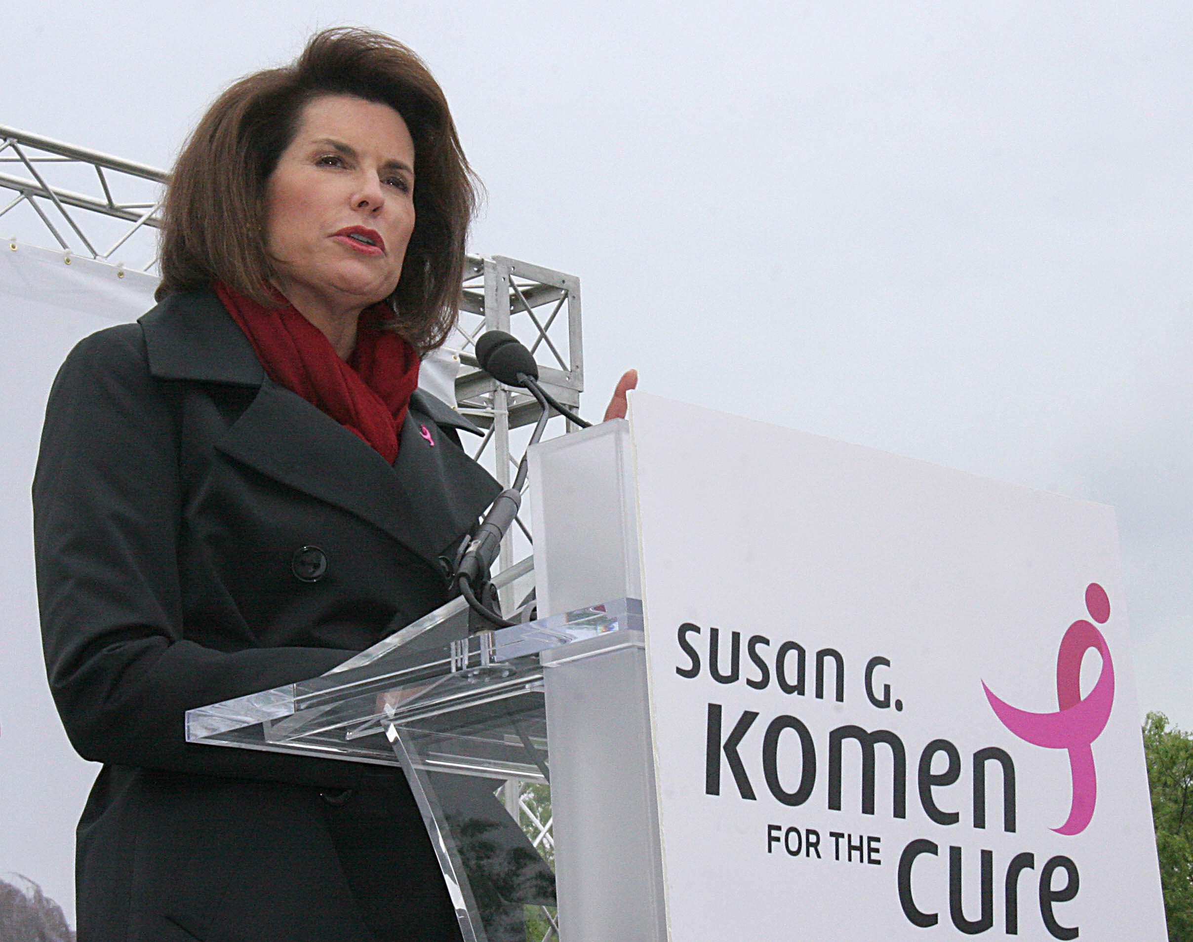 Nancy Brinker with the Susan G. Komen foundation