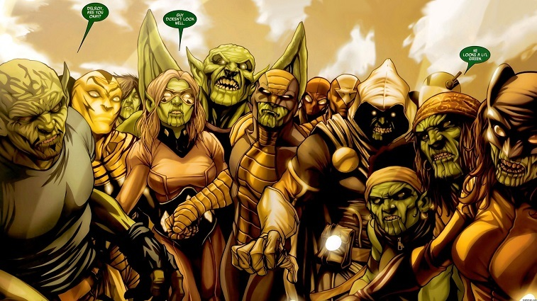 The Skrulls band together in a Marvel Comics issue