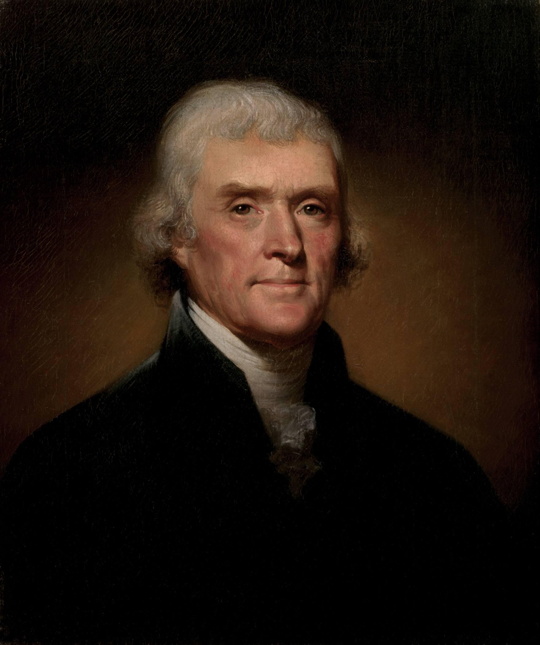 3rd President of the US Thomas Jefferson