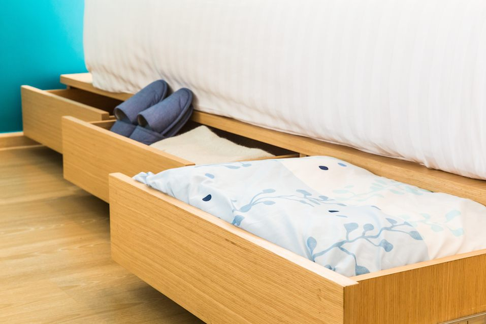 three drawers under the bed